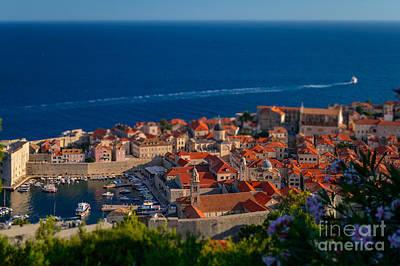 Shift Digital Art - Dubrovnik From Above, Croatia by Sinisa CIGLENECKI