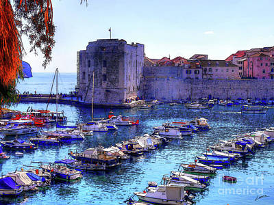 Dubrovnik Harbour Art Print