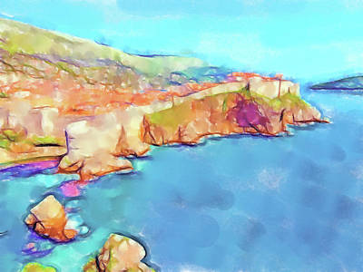 Lucent Dreaming Painting - Dubrovnik Iv by Nick Arte