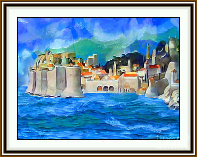 Architectural Painting - Dubrovnik - Number One by Ante Barisic