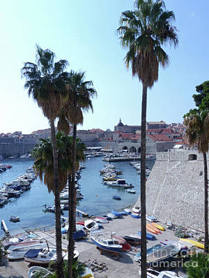 Photograph - Dubrovnik -  Old City Harbour by Phil Banks