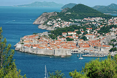 Photograph - Dubrovnik Old City Overview by Sally Weigand