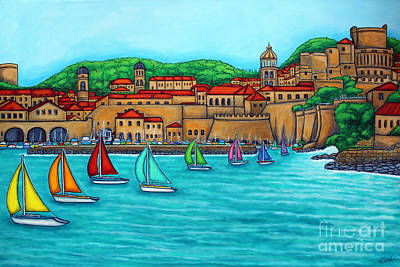 Croatia Painting - Dubrovnik Regatta by Lisa  Lorenz