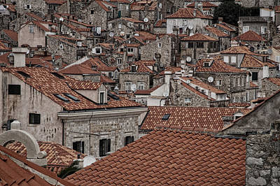 Photograph - Dubrovnik Rooftops #3 by Stuart Litoff