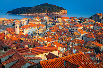 Dalmatian Photograph - Dubrovnik Rooftops by Inge Johnsson