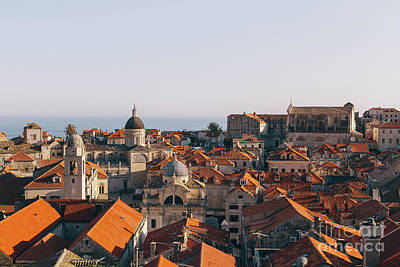 Photograph - Dubrovnik Rooftops Panorama by JR Photography