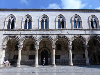 Photograph - Dubrovnik - Sponza Palace by Phil Banks