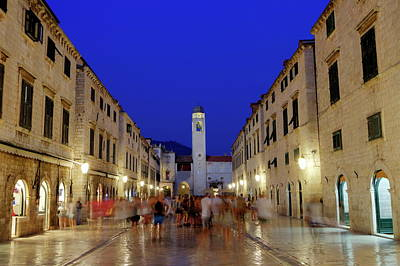 Photograph - Dubrovnik Stradun Or Placa Main Street, South Dalmatia Region, Croatia, Hdr by Elenarts - Elena Duvernay photo