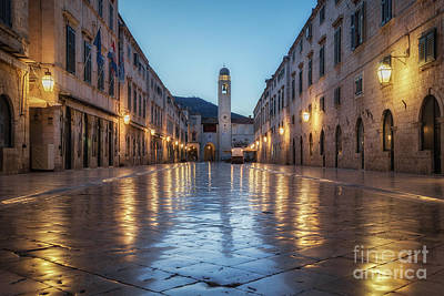 Photograph - Dubrovnik Stradun Twilight View by JR Photography