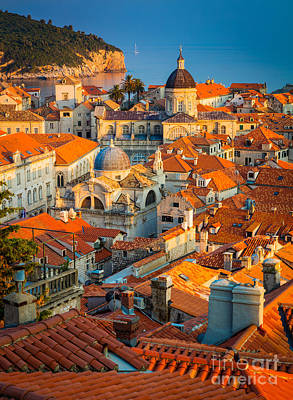 Dubrovnik Sunset Print by Inge Johnsson