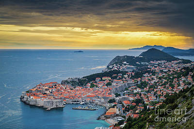 Photograph - Dubrovnik Sunset by JR Photography
