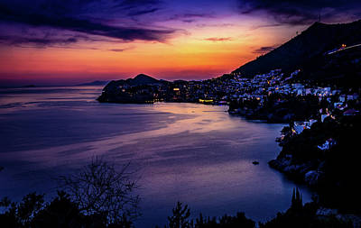 Photograph - Dubrovnik Twilight by Andrew Matwijec