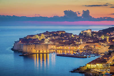 Photograph - Dubrovnik Twilight Panorama by JR Photography