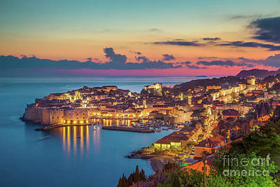 Photograph - Dubrovnik Twilight View by JR Photography