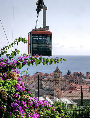 Photograph - Dubrovniks Cable Car by Lance Sheridan-Peel