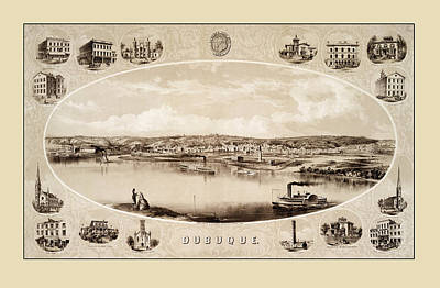 Photograph - Dubuque 1859 by Andrew Fare