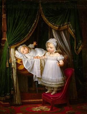 Marie Louise Painting - Duc De Bordeaux In His Cradle  by MotionAge Designs