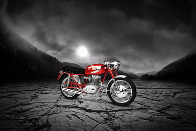 Ducati 250 Mach 1 1964  Mountains Print by Aged Pixel