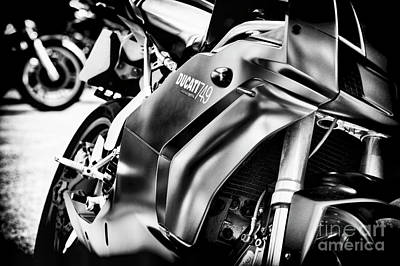 Photograph - Ducati 749 Testastretta Monochrome by Tim Gainey