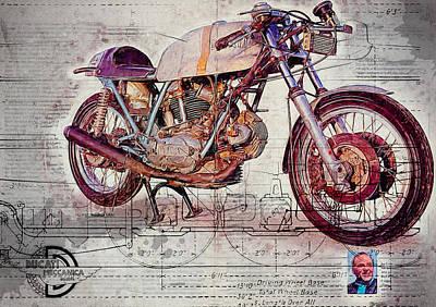 Ducati 750 Imola 1972 Art Print