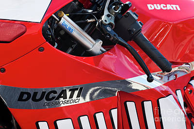 Photograph - Ducati Desmosedici Abstract  by Tim Gainey