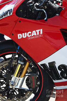 Red Abstract Photograph - Ducati Desmosedici by Tim Gainey