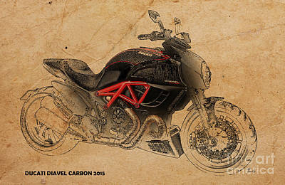 Transport Mixed Media - Ducati Diavel Carbon by Pablo Franchi