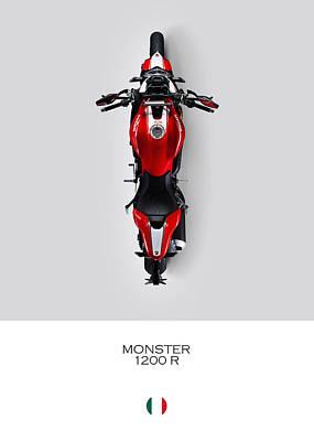 Monster Photograph - Ducati Monster 1200 R by Mark Rogan