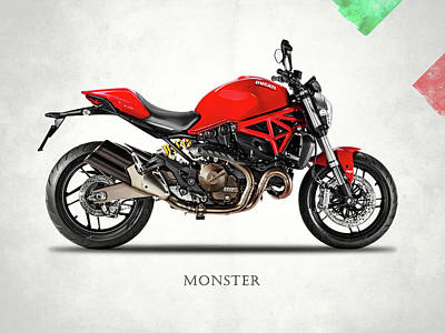 Monster Photograph - Ducati Monster 821 by Mark Rogan