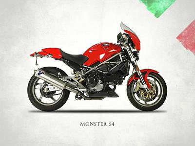 Ducati Monster S4 Sps Art Print by Mark Rogan