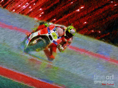 Photograph - Ducati Motogp Rider Andrea Iannone by Blake Richards