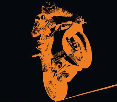 Digital Art - Ducati Panigale 1299 by Andrea Mazzocchetti