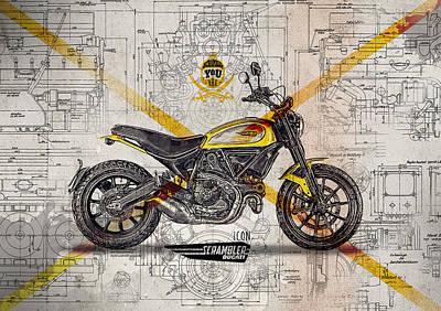 Ducati Scrambler Icon Art Print