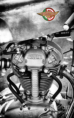 Bologna Photograph - Ducati Single Monochrome  by Tim Gainey