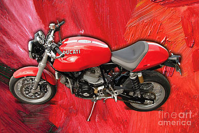 Digital Art - Ducati Sport 1000 Motorcycle by Victoria Harrington