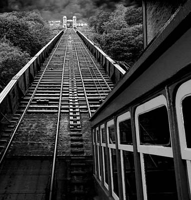 Duchesne Photograph - The Duchesne Incline - Pittsburgh - Black And White by Mitch Spence