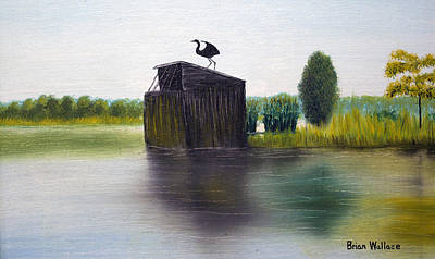 2d Painting - Duck Blind by Brian Wallace