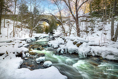 Photograph - Duck Brook In Winter by Benjamin Williamson