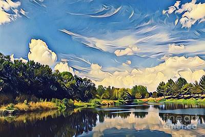 Photograph - Reflections At Duck Creek by Diane Miller