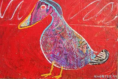 Duck Art Print by Dave Kwinter