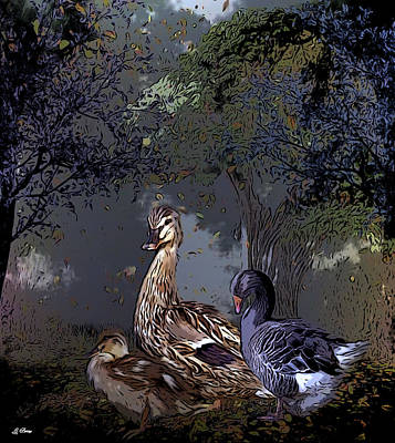 Nursery Rhyme Mixed Media - Duck Duck Goose 002 by G Berry
