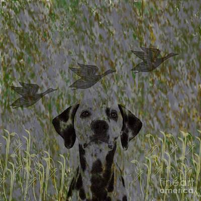 Digital Art - Duck Hunter by Scott Hervieux