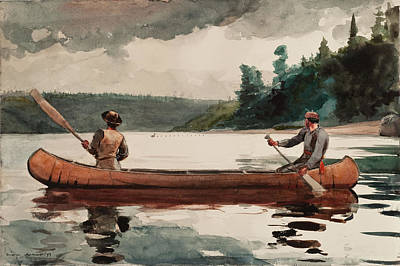 Duck Hunting Art Print by Winslow Homer