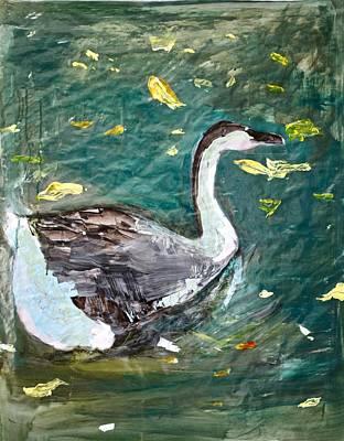 Wall Art - Painting - Duck by Michelle De Villiers