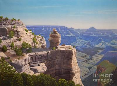 Grand Canyon Of Arizona Painting - Duck On A Rock Grand Canyon by Jerry Bokowski