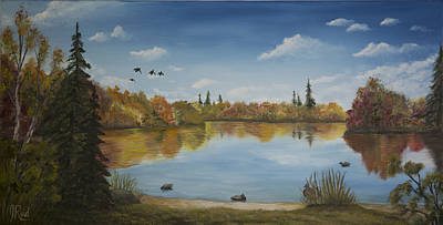 Painting - Duck Park by John Reid