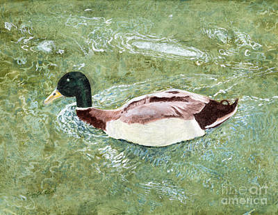 Painting - Duck by Peggy A Borel