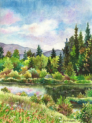 Painting - Duck Pond At Caribou Ranch by Anne Gifford