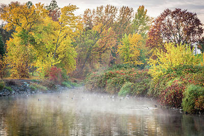 Photograph - Duck Pond Fog by Brad Stinson