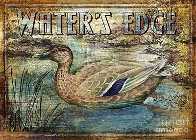 Mallard Wall Art - Painting - Duck Sign IIi by Paul Brent